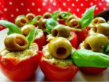 Pomidorki z ricottą i zielonym sosem pesto