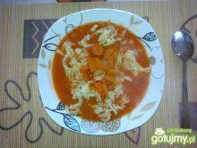 Pomidorowa na bazie rosołu z kaczki