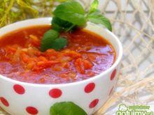 Pomidorowa na duszonych warzywach