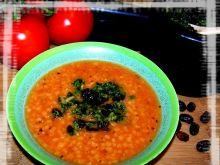 Pomidorowa soczewica z żurawinowym pesto