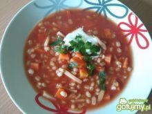 Pomidorowa z pęczakiem