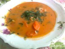Pomidorowa z ryżem i jarzynami