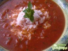 Pomidorowa z ryżem i ziołami