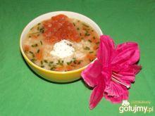 Pomidorowa zupka -trzy rybki- z ryżem