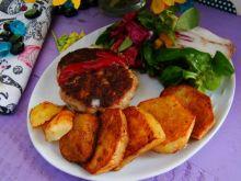 Pomidorowe kotleciki z tymiankowymi ziemniakami