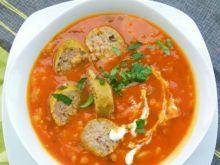 Pomidorówka dyniowa 2 z białą kiełbasą