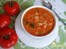 Pomidorówka warzywna z ryżem