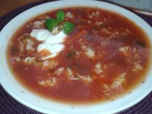 Pomidorówka z jogurtem naturalnym