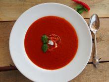 Pomidorówka z marynowaną papryką