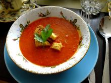 Pomidorowo - paprykowa zupa krem