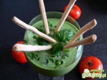 Pomidorowo- szpinakowy chłodnik z tofu