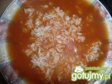 pomidorowy, słodki krem z ryżem
