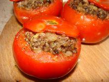 Pomidory faszerowane kaszanką