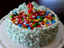 Karmelowo- marsowy tort urodzinowy