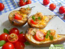 Gruszki z serem lazur i krewetkami