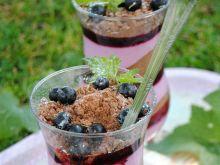 Porzeczkowo- serowy deser z herbatnikami