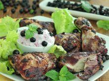 Porzeczkowy kurczak z grilla z sosem