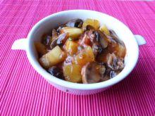 Potrawa z warzyw i pieczarek