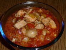 Potrawka mięsno pieczarkowy