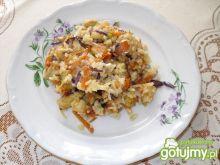 Potrawka ryżowa z kurczakiem i kapustą
