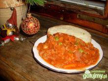 Potrawka warzywna ze smażoną kiełbasą
