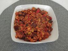Potrawka z boczniakami, kurczakiem i warzywami