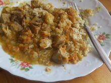 Potrawka z cukinią, marchewką i ryżem