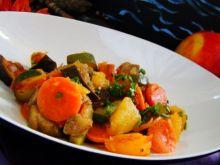 Potrawka z dyni kabaczka i bakłażana