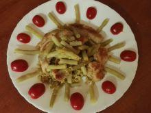 Potrawka z fasolki szparagowej i kurczakiem