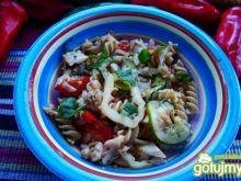 Potrawka z grillowanym halibutem