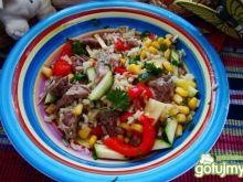 Potrawka z kaczki i warzyw  w ryżu