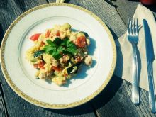 Potrawka z kaszą jaglaną, kurczakiem i warzywami