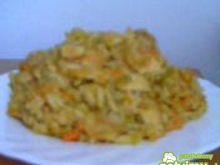 Potrawka z kurczaka ryżu i warzyw