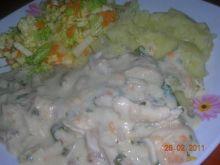 Potrawka z kurczaka w białym sosie