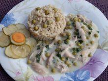 Potrawka z kurczaka z groszkiem