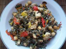 Potrawka z kurczaka z warzywami i dzikim ryżem
