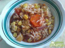 Potrawka z kurczakiem i kukurydzą