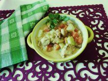 Potrawka z mięsa, warzyw i grzybów