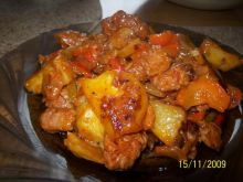 potrawka z mięsem mielonym i ziemniakami