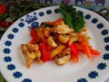Potrawka z papryki i indyka