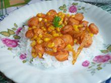 Potrawka z parówek i kukurydzy