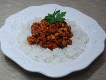 Potrawka z ryżem i mięsem mielonym