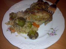 Potrawka z ryżem i skrzydełkami