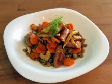 potrawka z soczewicy i marchewki