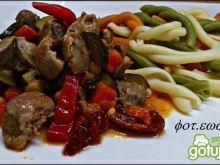 Potrawka z żołądków drobiowych