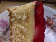 Proste ciasto z truskawkami i galaretką
