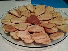Proste walentynkowe, kruche ciasteczka