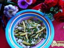 Przekąska z kaszy i fasolki szparagowej