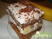 Przekładaniec czekoladowo-bananowy