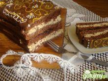Przekładaniec czekoladowo-orzechowy